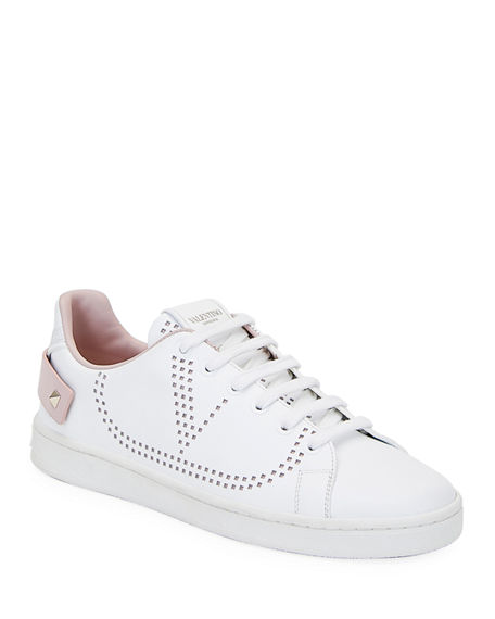 Valentino Garavani Backnet Low-Top Sneakers with Rockstud Tab