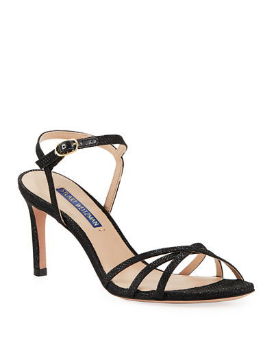 Starla Metallic Fabric Sandals
