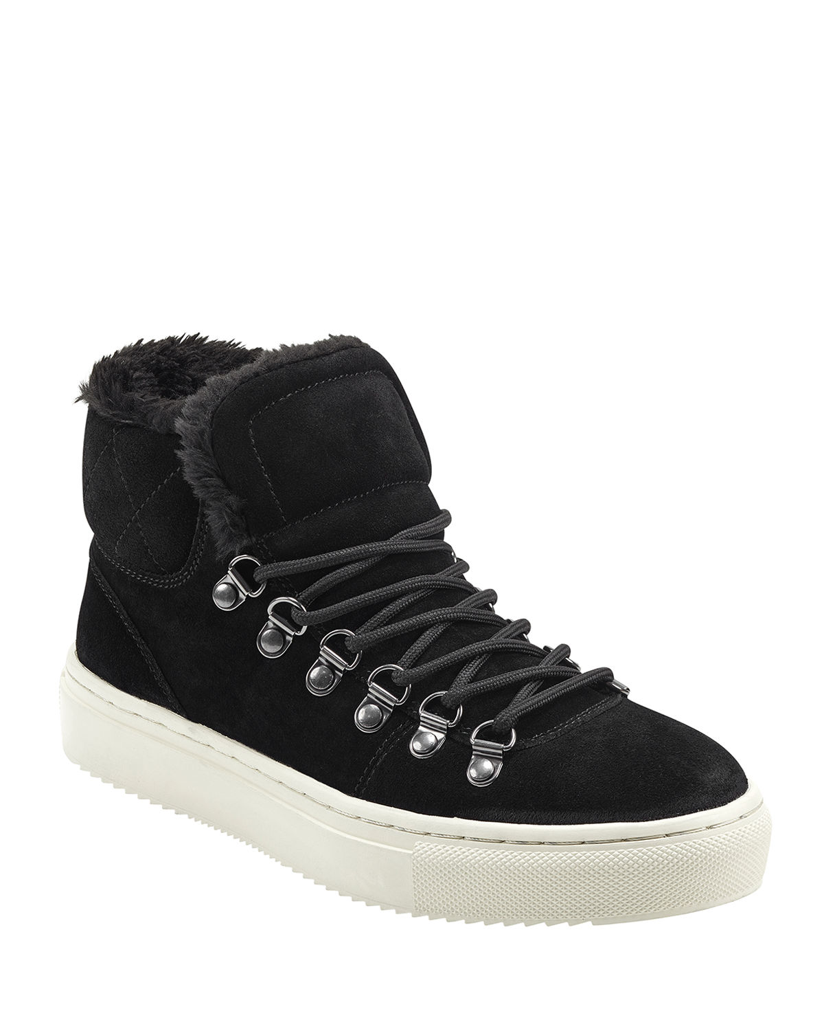 Daisie Faux-Fur Sneakers