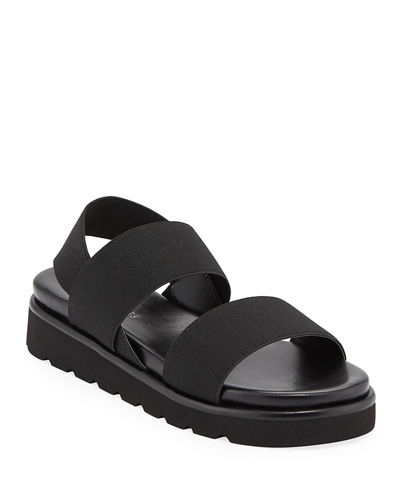 Lue Stretch-Strap Flatform Sandals