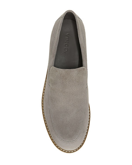 Image 3 of 4: Vince Zeta Suede Chunky Loafers