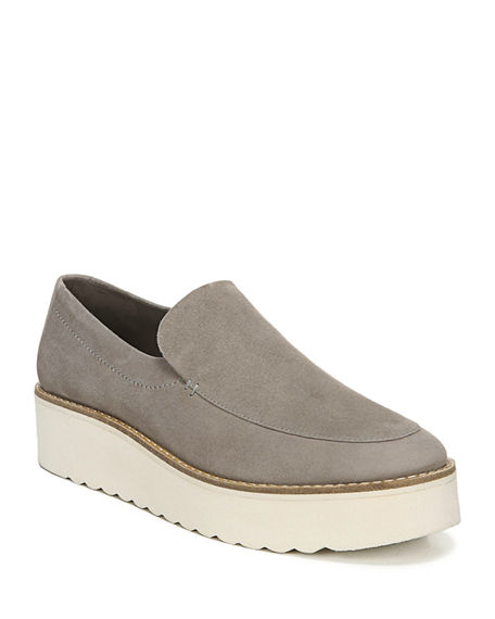 Image 1 of 4: Vince Zeta Suede Chunky Loafers