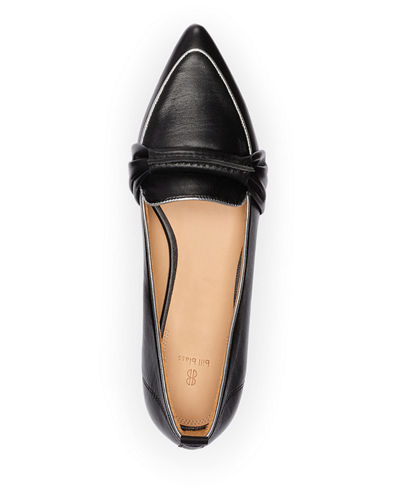 Bill Blass Surit Leather Flat Loafers