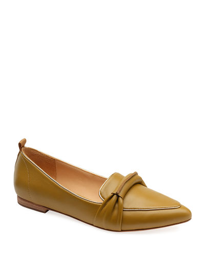 Surit Leather Flat Loafers