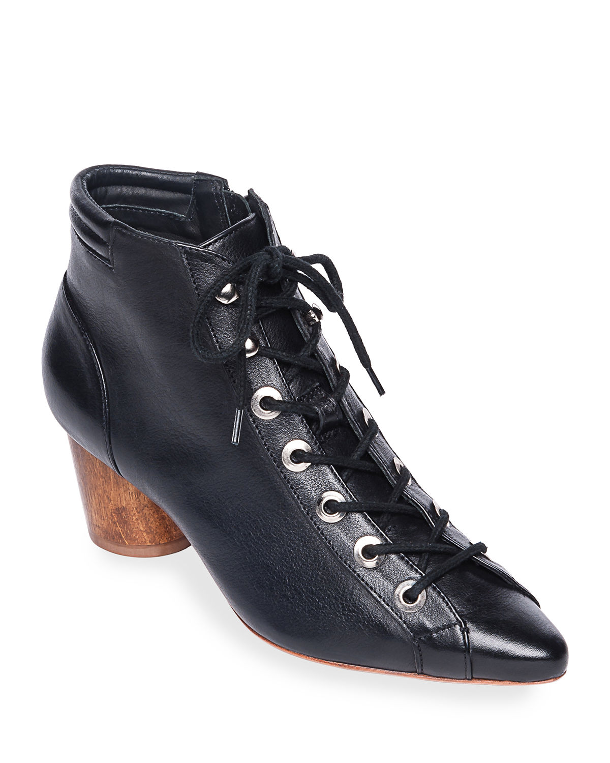 Bernardo Boots FRANCIE LEATHER LACE-UP BOOTIES