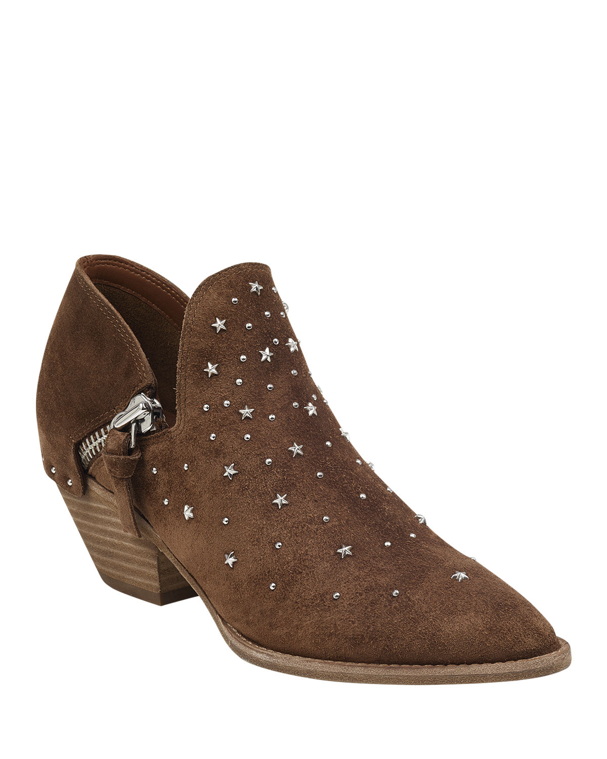 Haile Star Studded Suede Booties