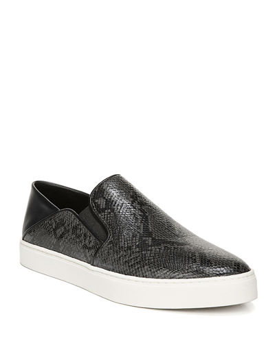 Garvey Snake-Print Slip-On Sneakers