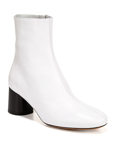Tasha Leather Zip Booties