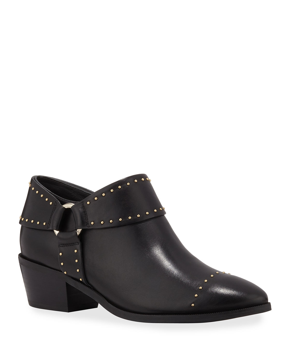Sage Studded Leather Harness Booties