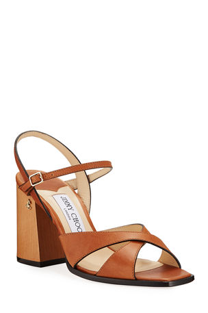 Jimmy Choo Joya 85mm Leather Sandals