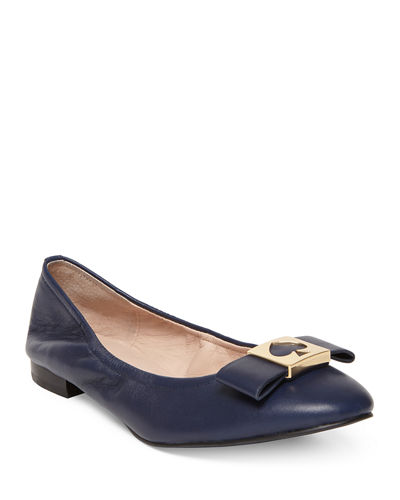Marline Leather Bow Ballet Flats