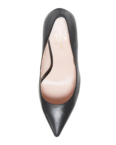 kate spade new york Vivian Pointed-Toe Leather Pumps