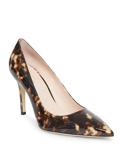 Vivian Pointed-Toe Leather Pumps