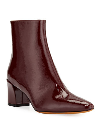 Vince Lanica Patent Leather Zip Booties