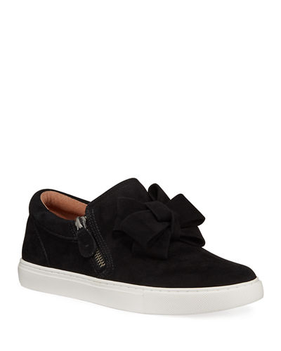 Hale Ribbon Suede Slip-On Sneakers