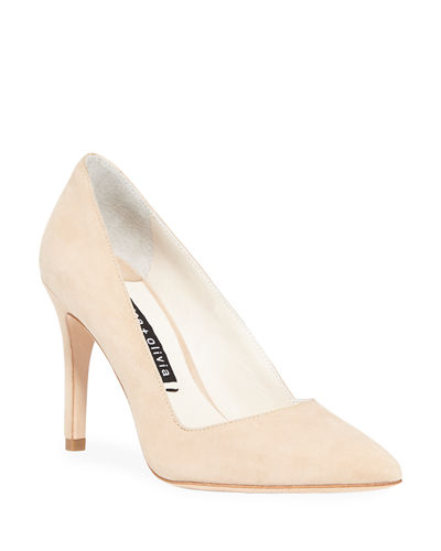 Dina Suede Pointed Pumps
