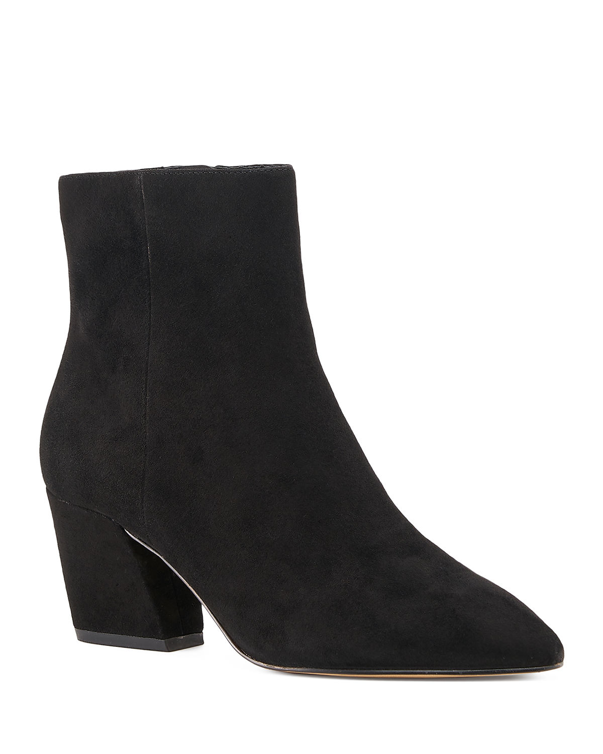 Sasha Suede Zip Booties