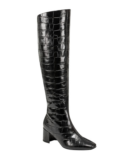 Sigerson Morrison Paislee 65mm Croc-Embossed Leather Boots
