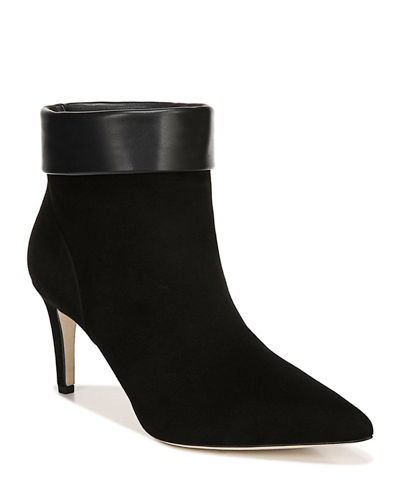 Via Spiga Giulia Suede Stiletto Booties