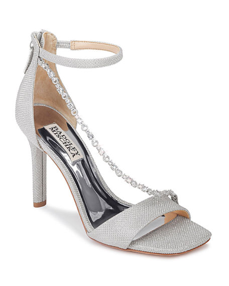 Badgley Mischka Erika Glitter Sandals