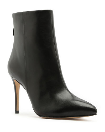 Schutz Michela Point-Toe Leather Ankle Boots