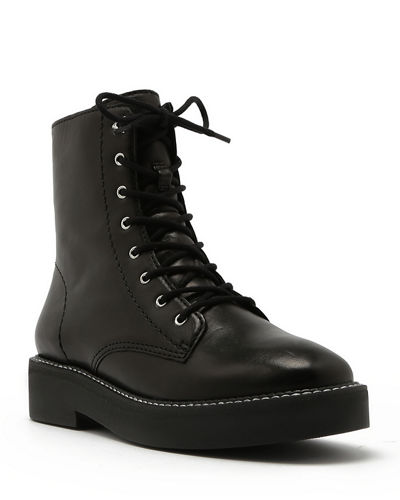 Schutz McKenzie Leather Combat Boots