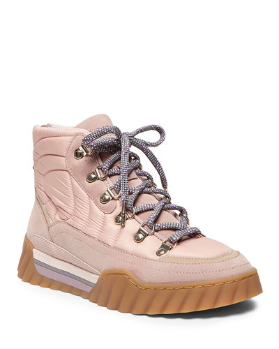 wynter quilted lace-up boots