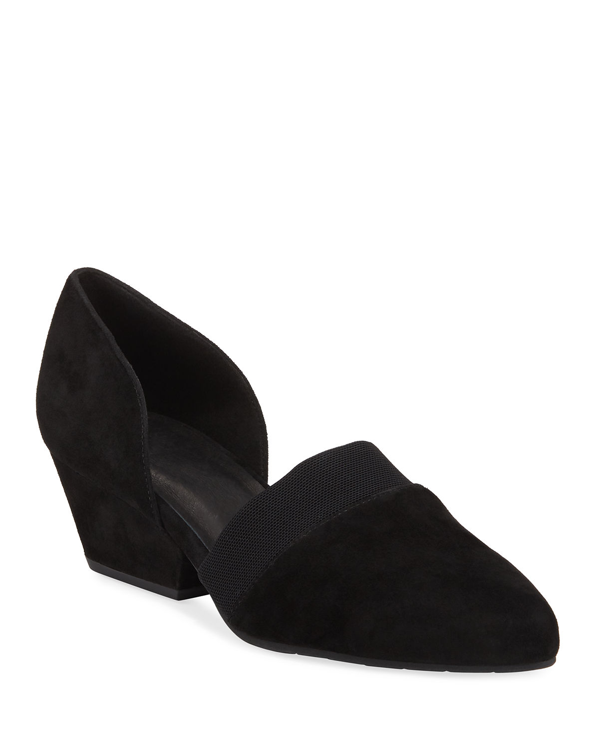 Hilly Easy Suede Demi-Wedge Pumps