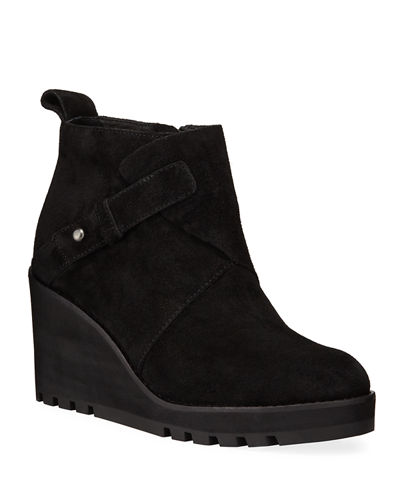 Eileen Fisher Tinker Wedge Suede Booties