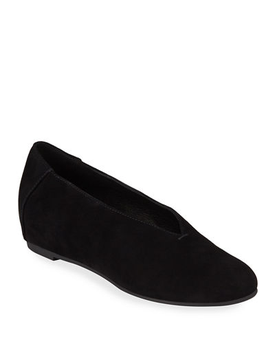 Patch Suede Ballet Flats