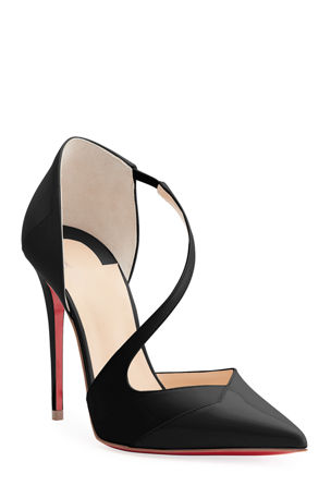 Christian Louboutin Round And Square 100 Red Sole Pumps