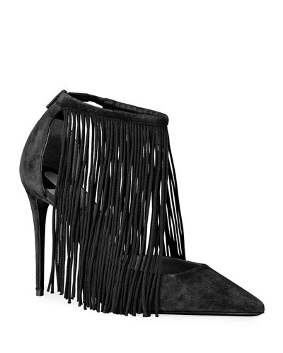 Courtain 100 Fringe Red Sole Pumps