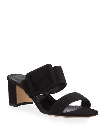 Tituba Suede Slide Sandals