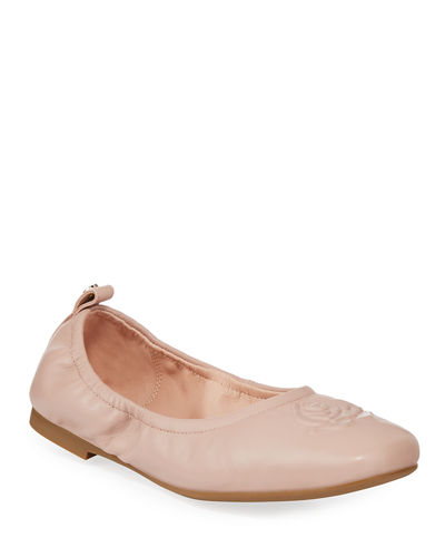 Raquel Rose Weatherproof Leather Ballet Flats