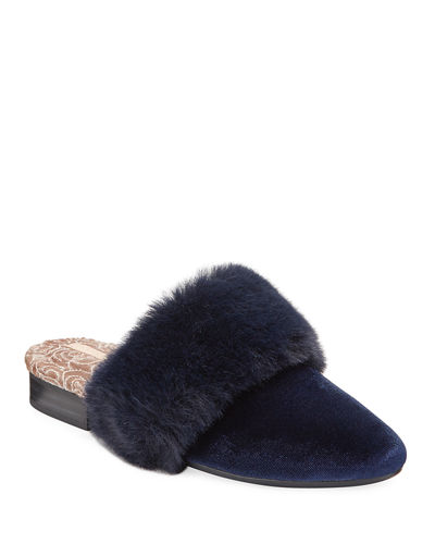 Taryn Rose Bev Velvet House Slippers