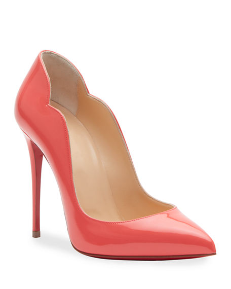 Christian Louboutin Hot Chick 100 Patent Red Sole Pumps