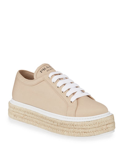 Canvas Platform Espadrille Sneakers