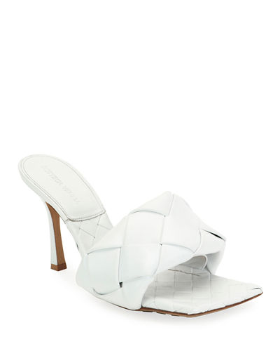 Puffy Intreccio Square Mules
