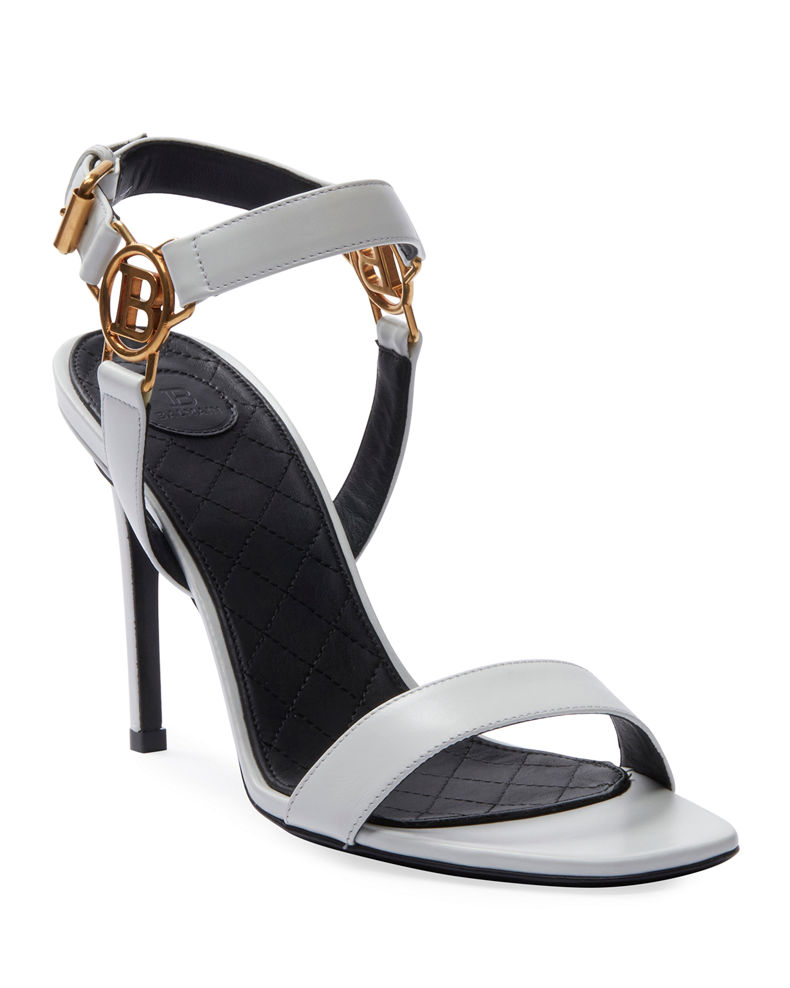 Balmain Pernille Medallion Leather Sandals