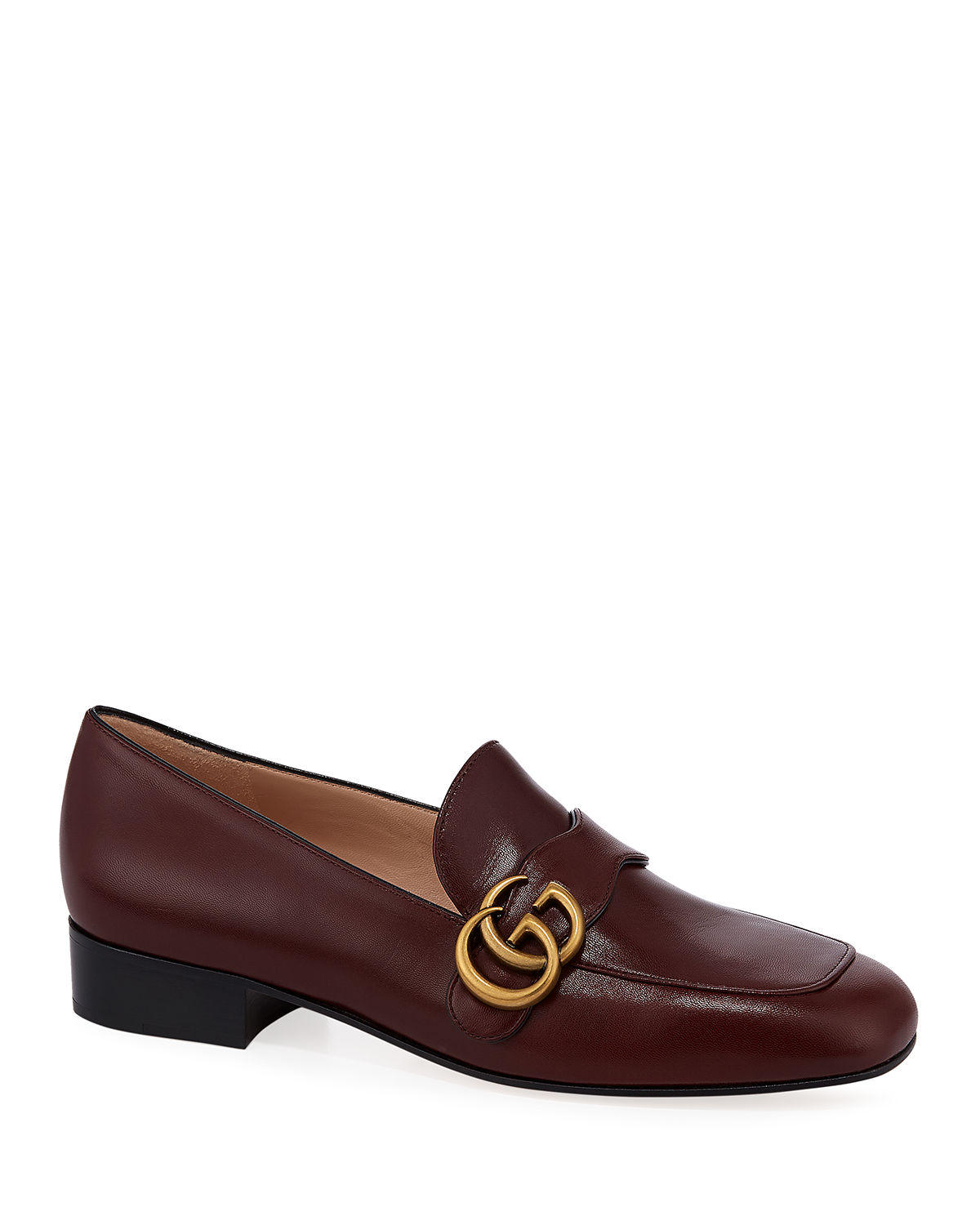 Gucci Loafers MARMONT 25MM LEATHER LOAFERS