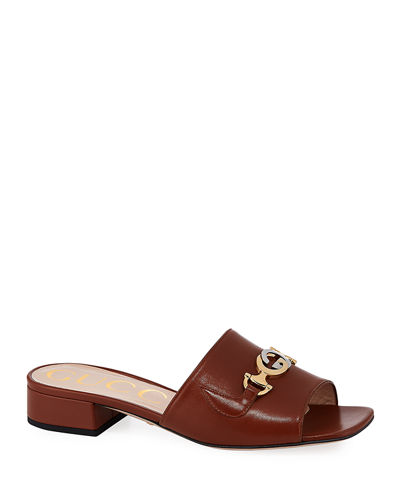 Zumi 25mm Leather Slide Sandals