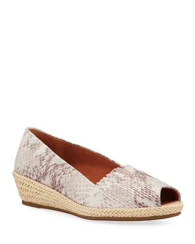 Luci Ruffle Metallic Leather Espadrille Loafers