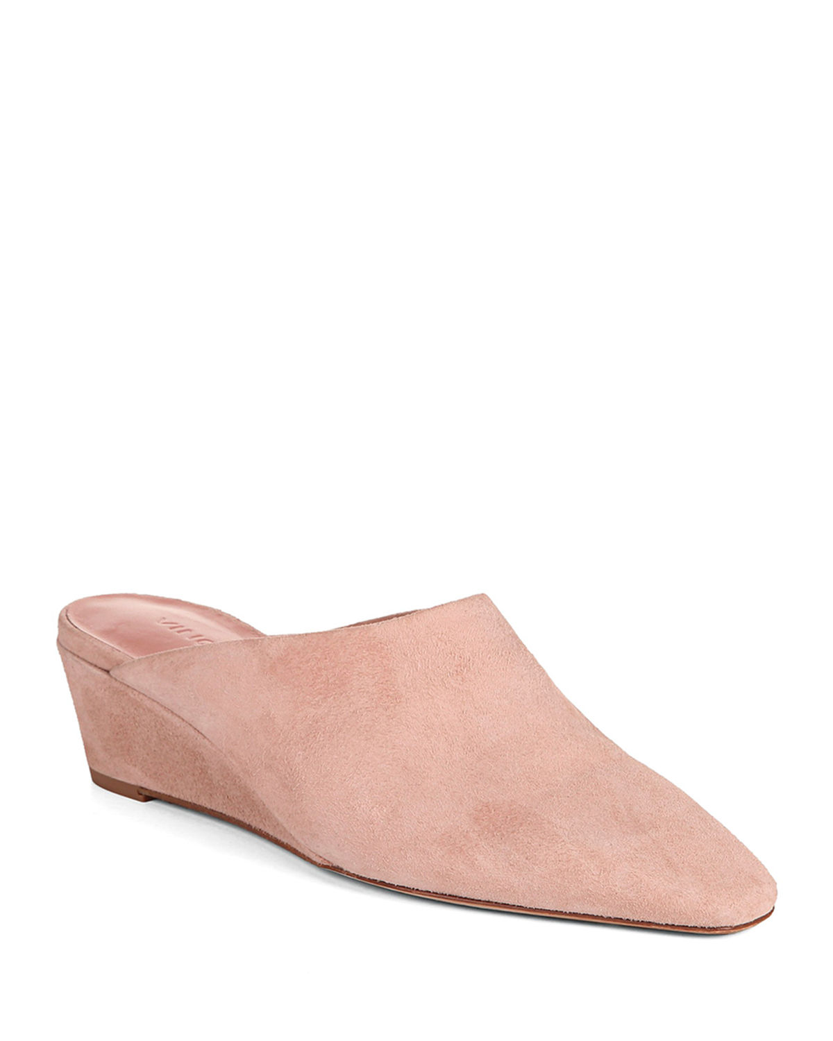 Vince Mules BAXLEY SUEDE WEDGE MULES