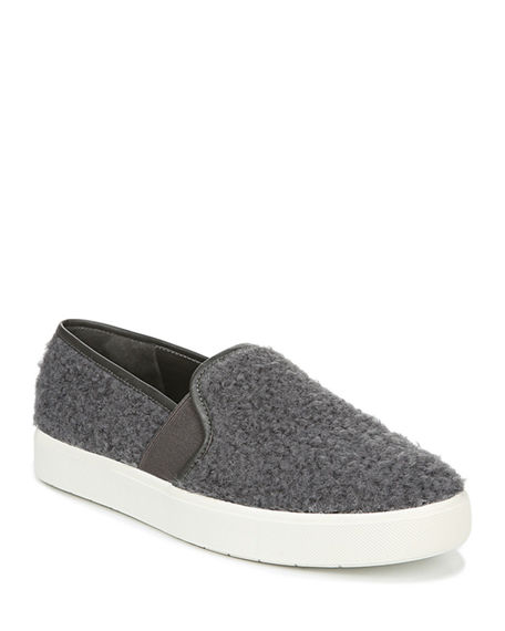 Vince Blair 5 Barry Shearling Fabric Slip-On Sneakers