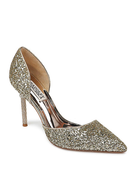 Badgley Mischka Ozara Glitter Pumps