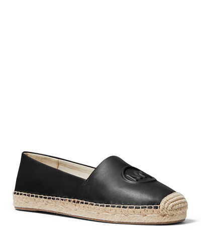 Dylyn Leather Logo Espadrille Flats