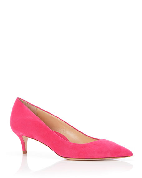 Marion Parke Must Have 45 Suede Kitten-Heel Pumps