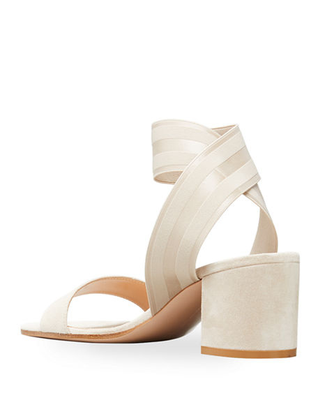 Image 2 of 2: Gianvito Rossi Stretch-Strap Cork Sandals