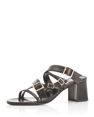 Becca Multi-Buckle Mule Sandals