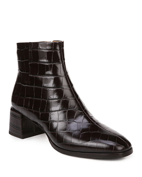 Via Spiga Sahira Mock Croc Zip Booties